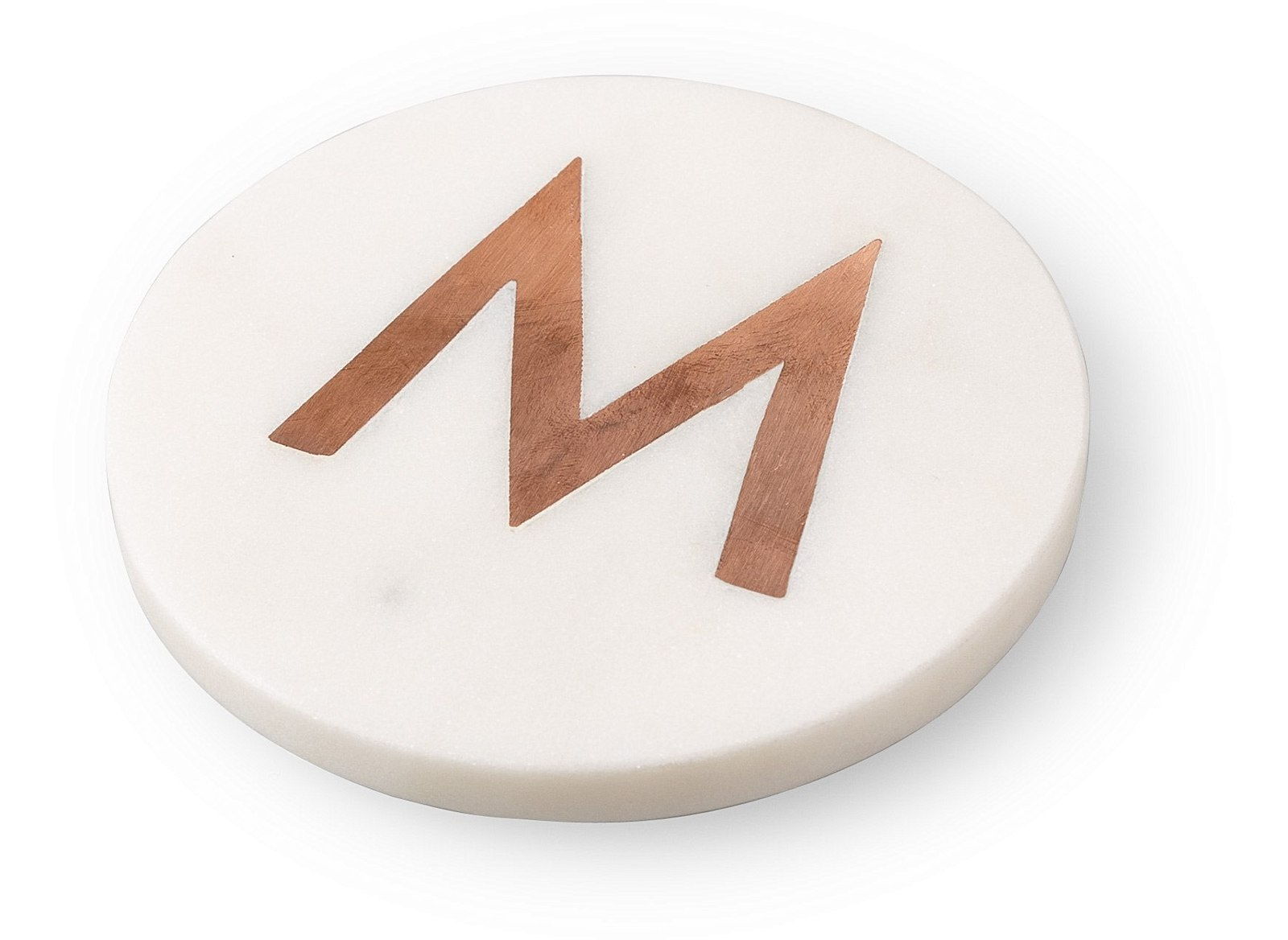 Marble & Copper Alphabet Coaster