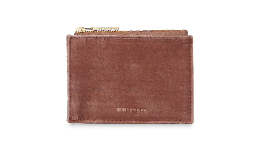 Whistles Velvet Coin Purse