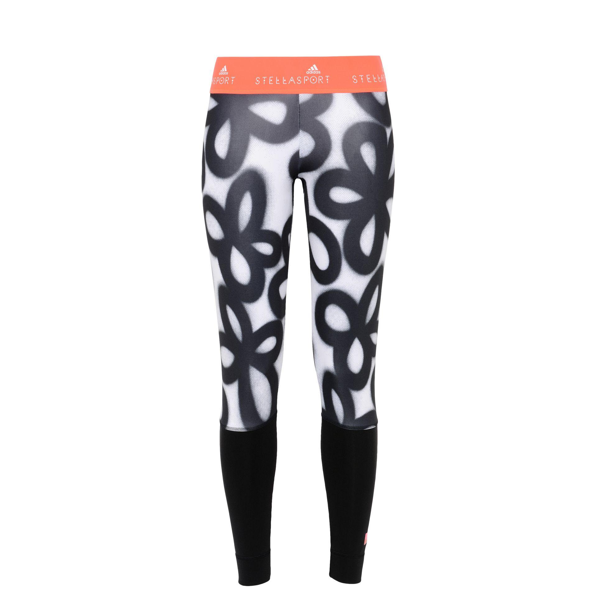 Graphic Floral Print Leggings - Adidas Stellasport