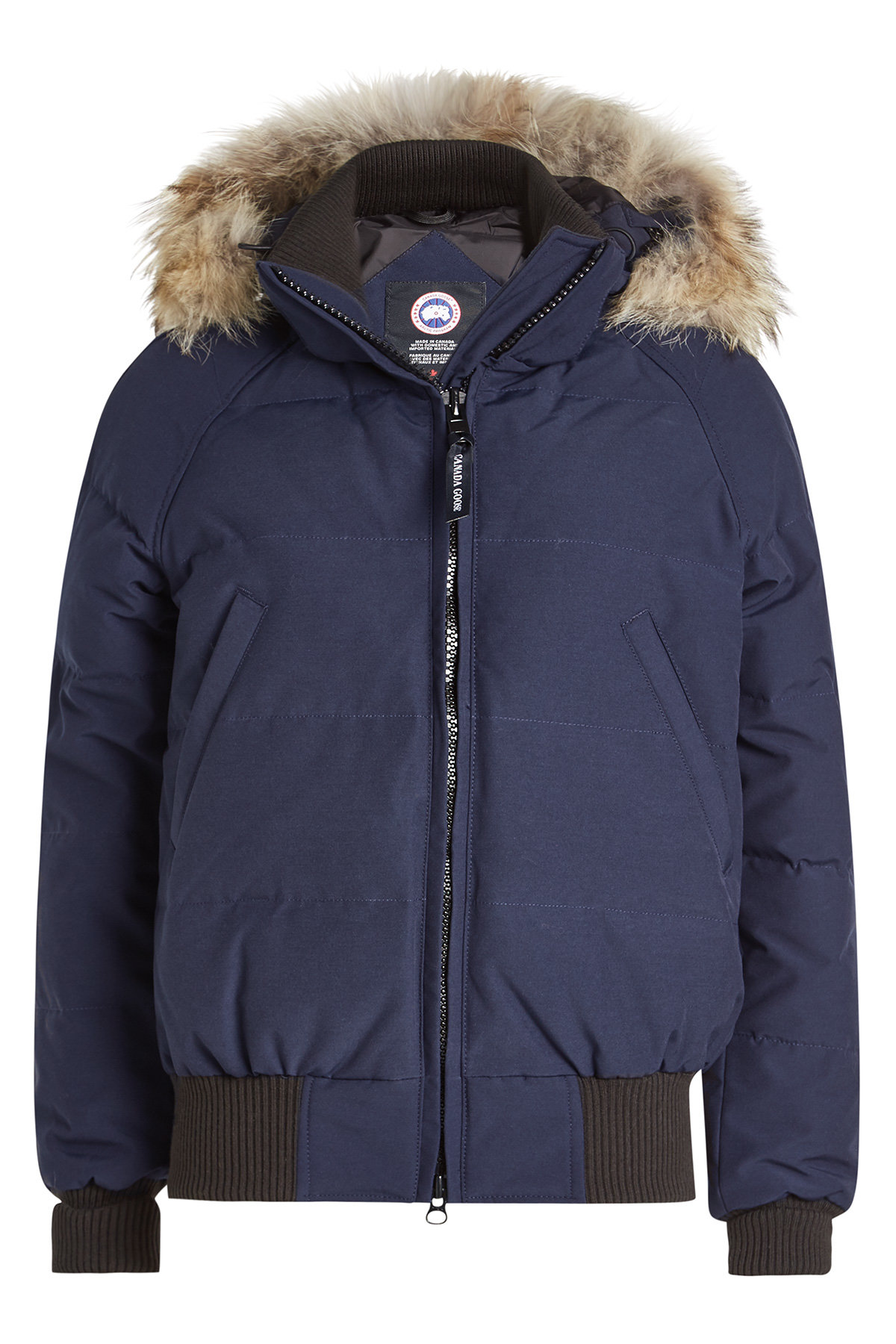 Canada Goose Savona Down-Filled Bomber Jacket with Fur Trimmed Hood - STYLEBOP