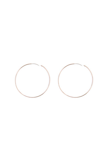 Fine Gold Hoops - WAREHOUSE