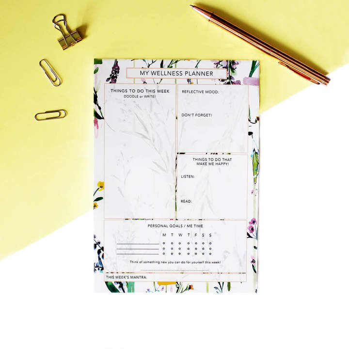 Nikki strange A5 Fleur Botanique Floral Wellness Planner:Organiser .jpg