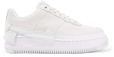 The 1 Reimagined Air Force 1 Jester Xx Textured-leather Platform Sneakers - Off-white