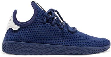 adidas Originals - + Pharrell Williams Tennis Hu Stretch-knit Sneakers - Royal blue