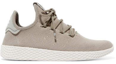 + Pharrell Williams Tennis Hu Stretch-knit Sneakers - Gray