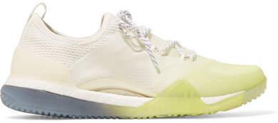 adidas by Stella McCartney - Pureboost Dégradé Stretch-knit Sneakers - White