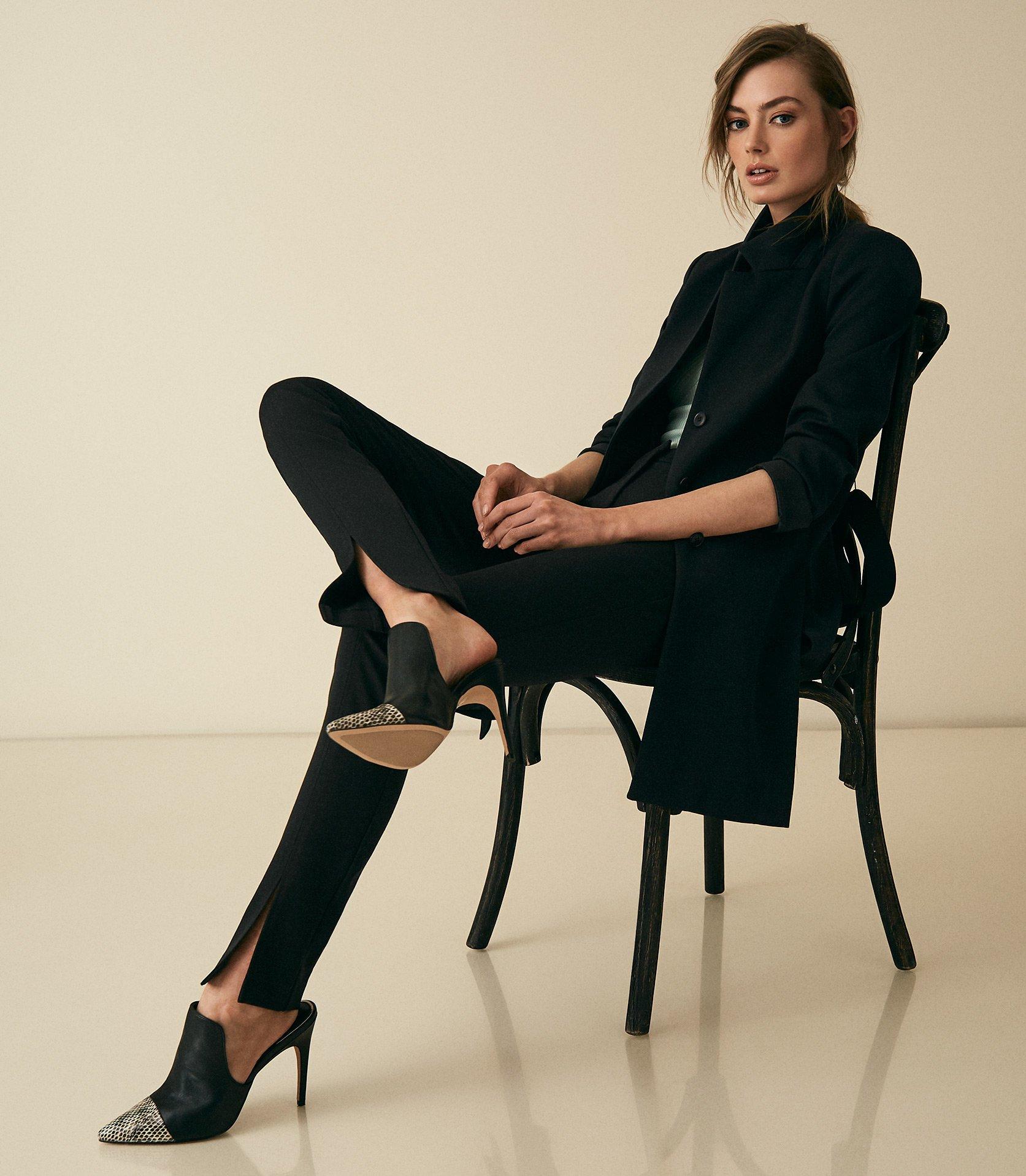 Reiss Maisie - Wrap Collar Coat in Black
