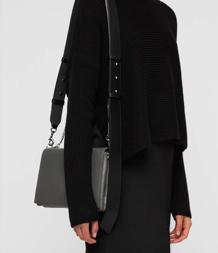 AllSaints Zep Leather Box Bag