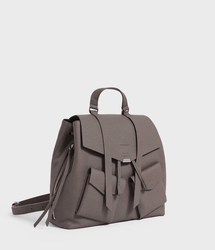 AllSaints Captain Lea Leather Backpack