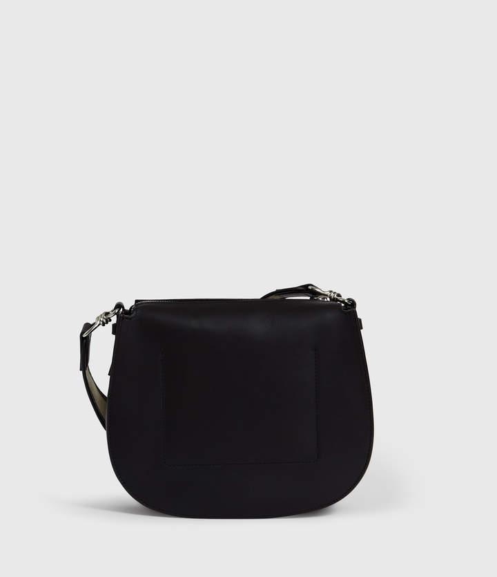 AllSaints Darcy Round Leather Crossbody Bag