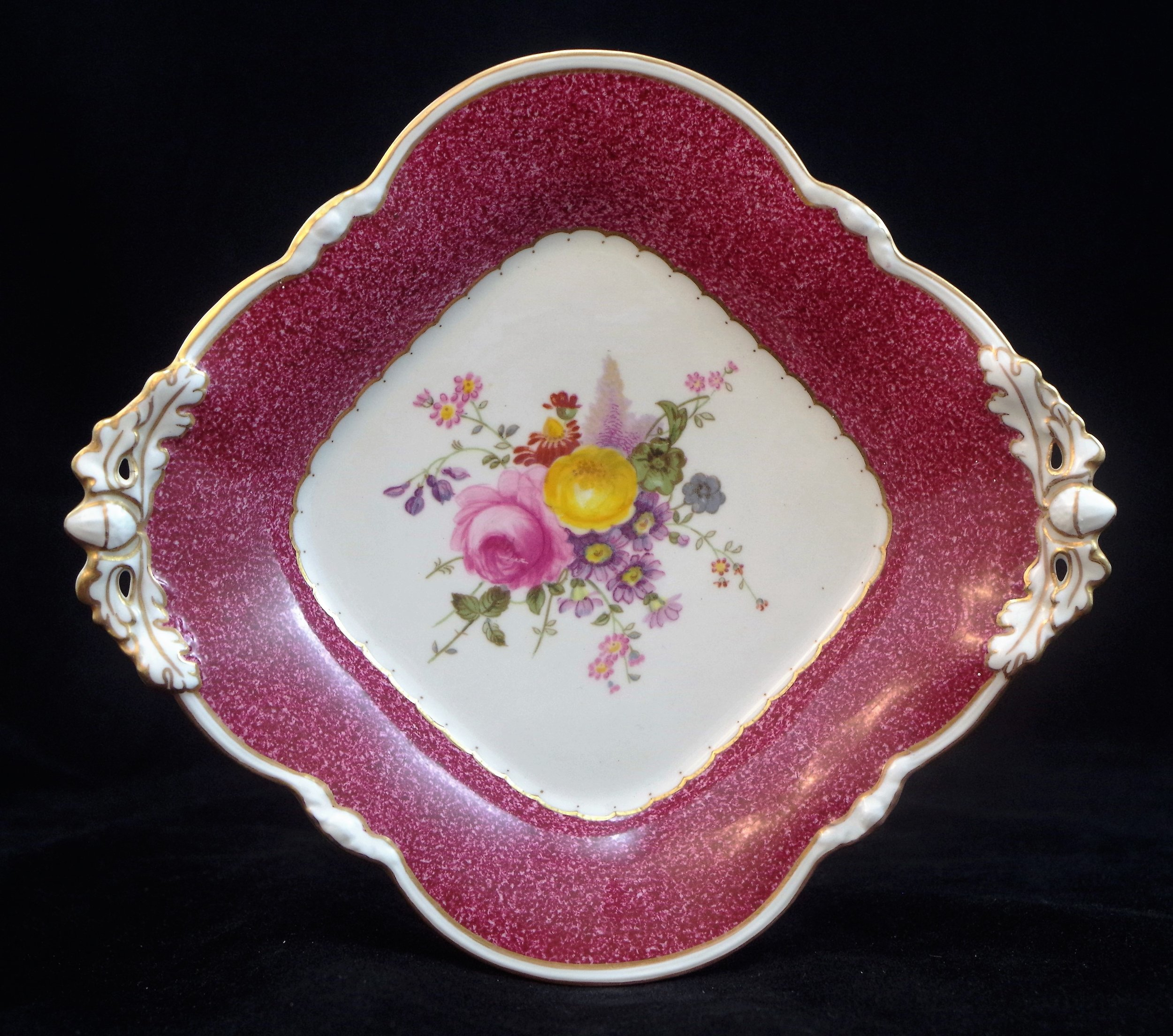 royal-crown-derby-cake-basket-1685-square-posie-with-powdered-maroon-ground