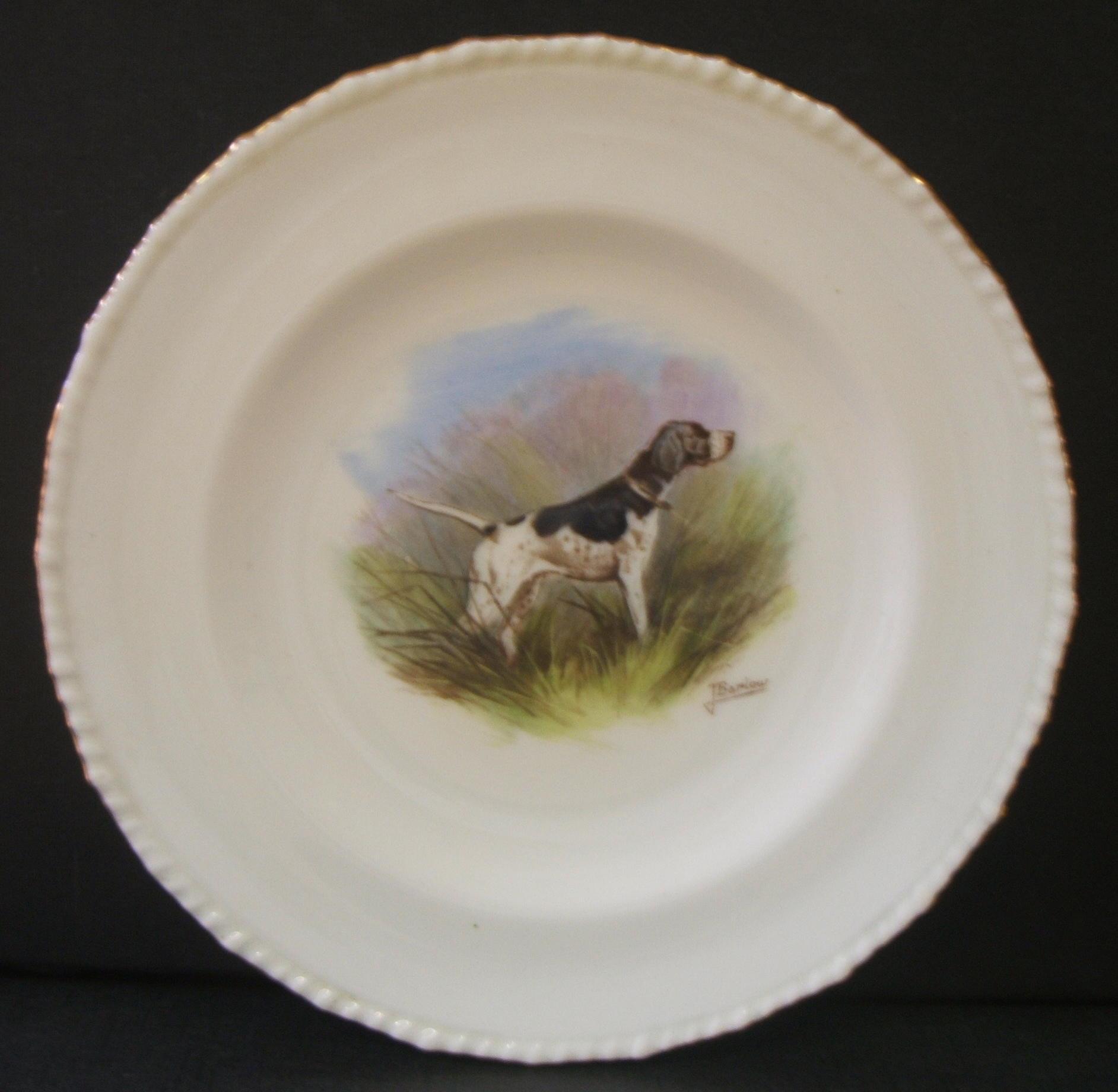 royal-crown-derby-stanhope-shape-plate-hunting-dog-j-barlow