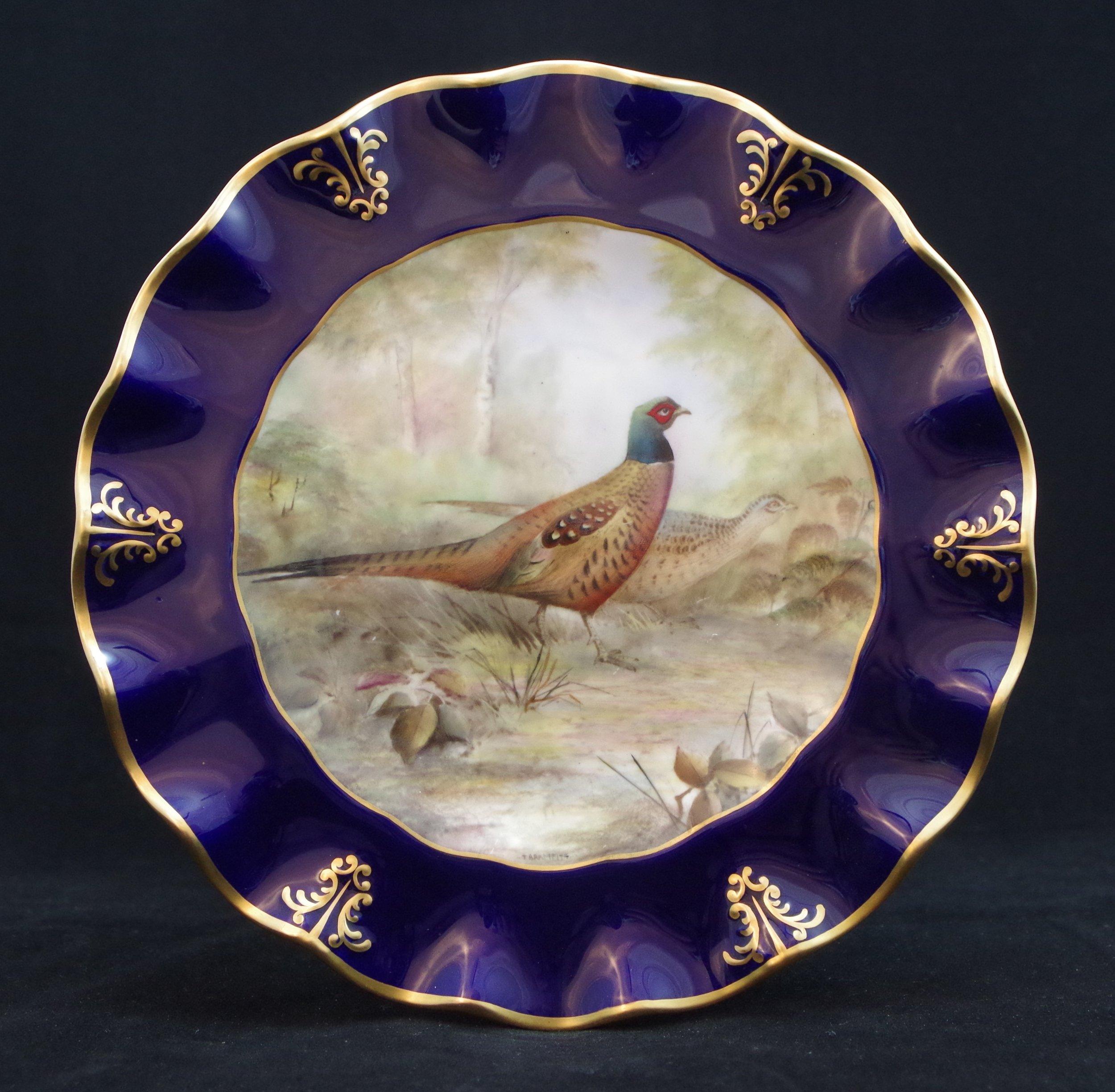 royal-crown-derby-clarence-cobalt-pheasant-t bramfitt