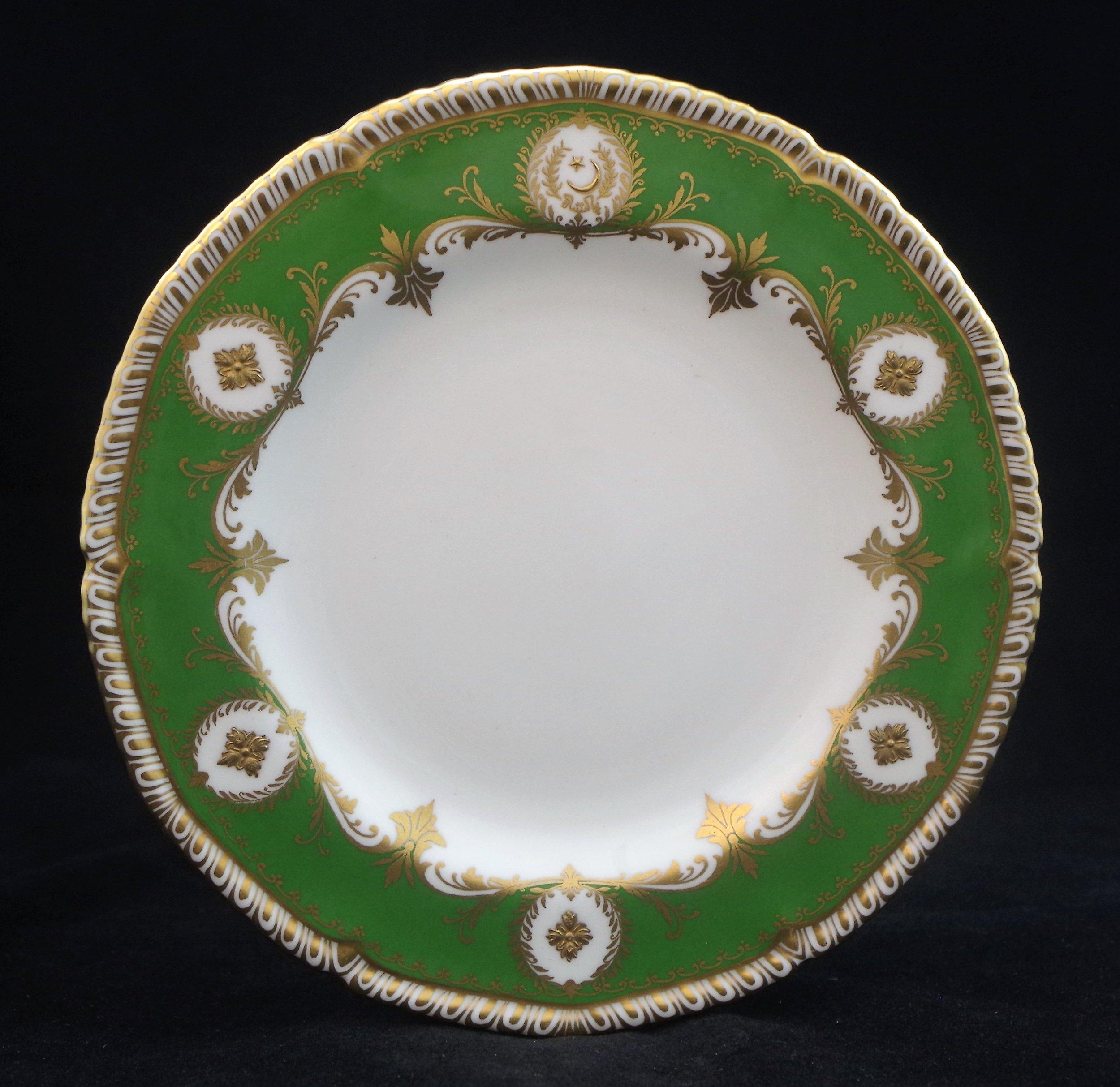 royal-crown-derby-queen's-gadroon-green-ground-pakistan