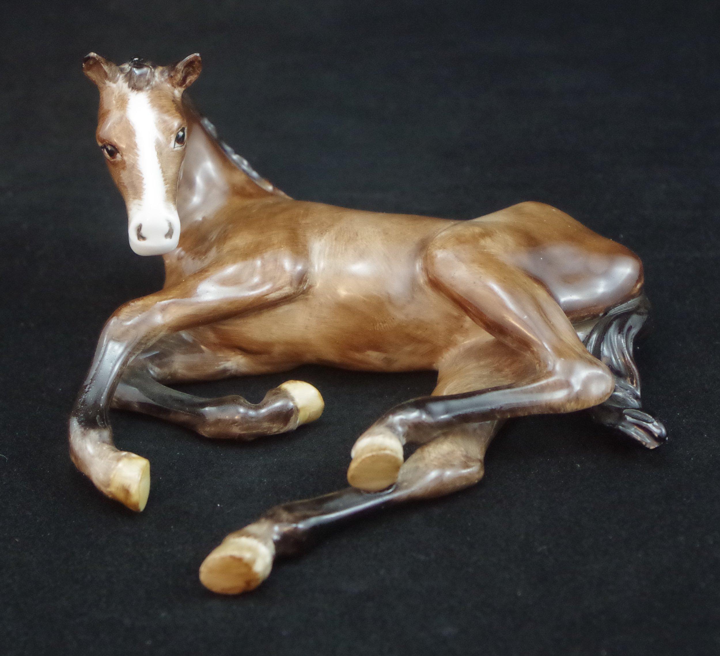 Foal Lying Down F512
