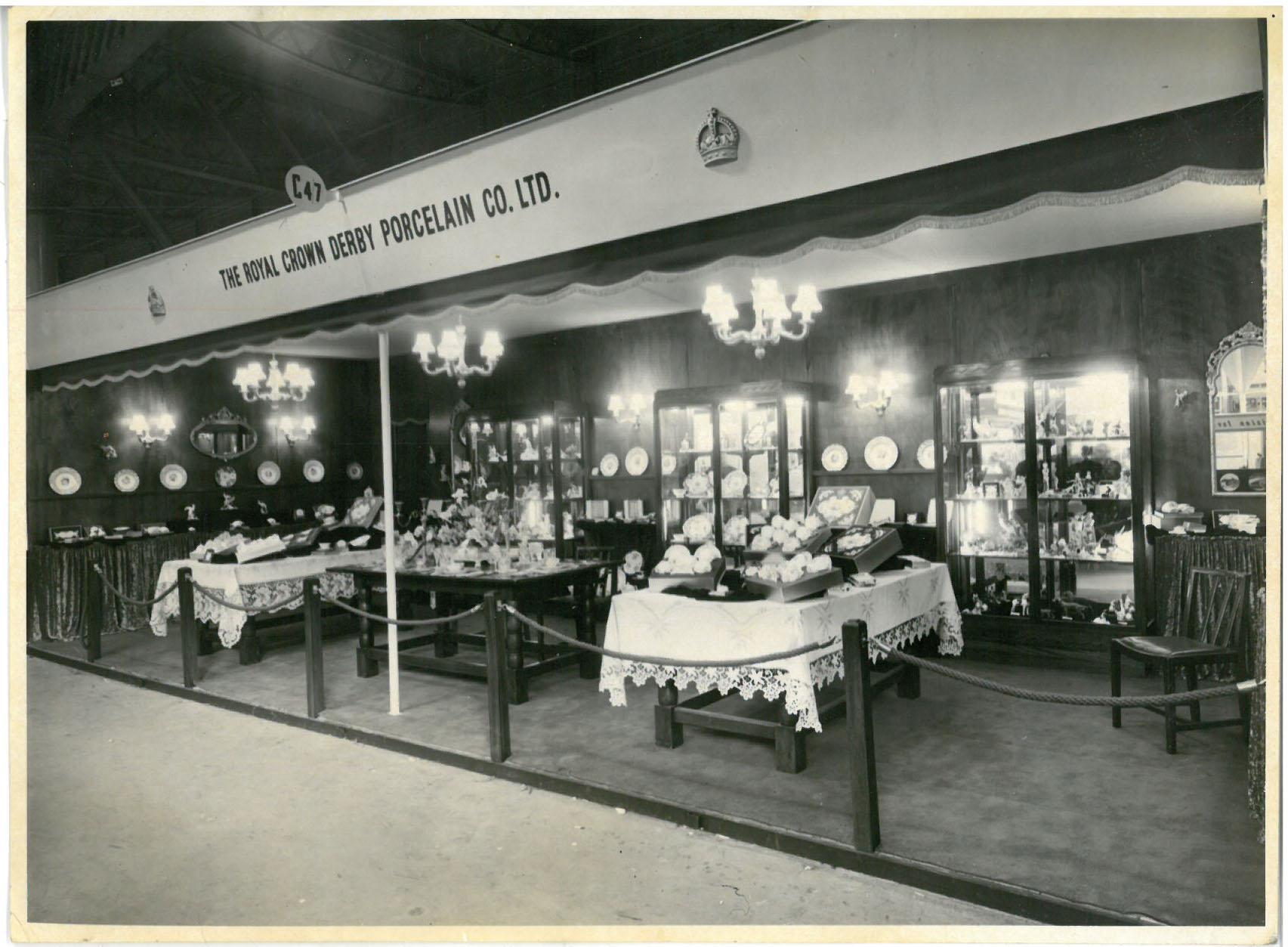 royal-crown-derby-trade-stand-british-industries-fair-1955