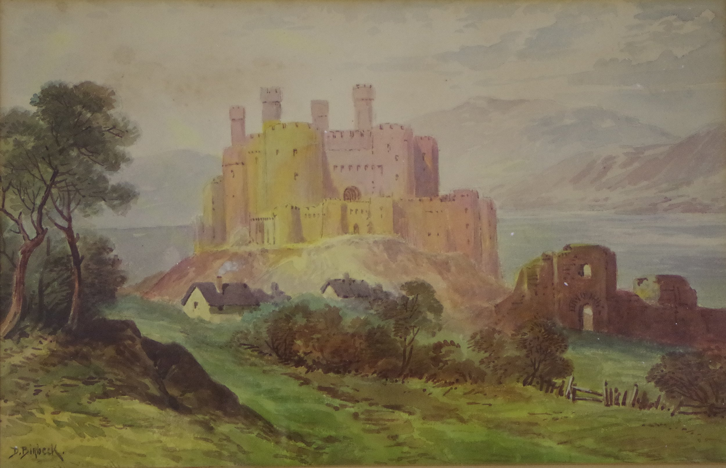 Conway (Conwy) Castle, watercolour by Donald Birbeck