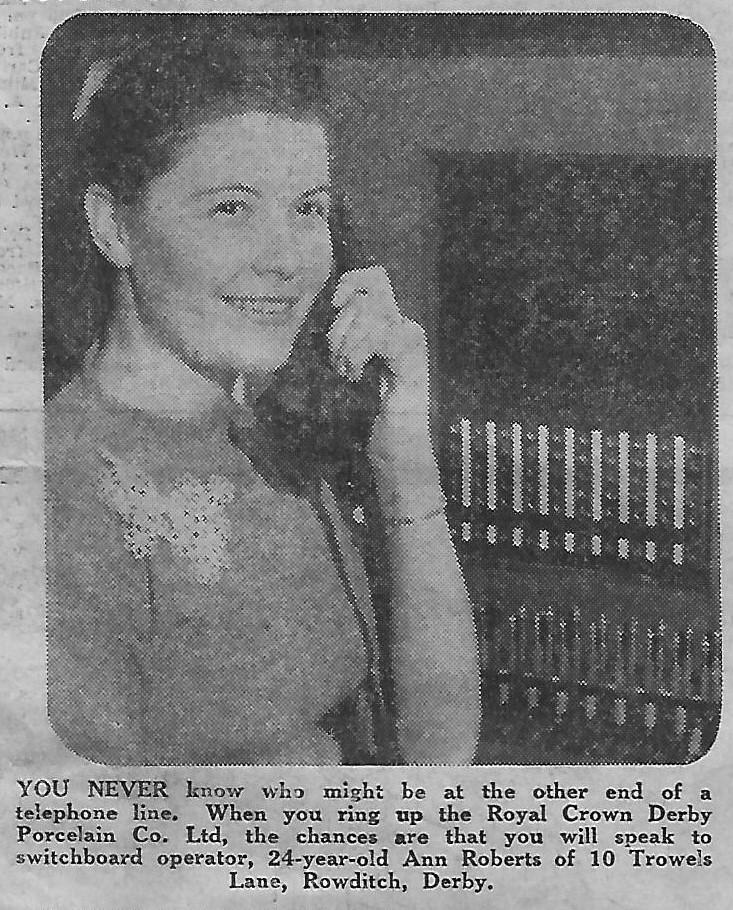 Ann Roberts Switchboard Operator