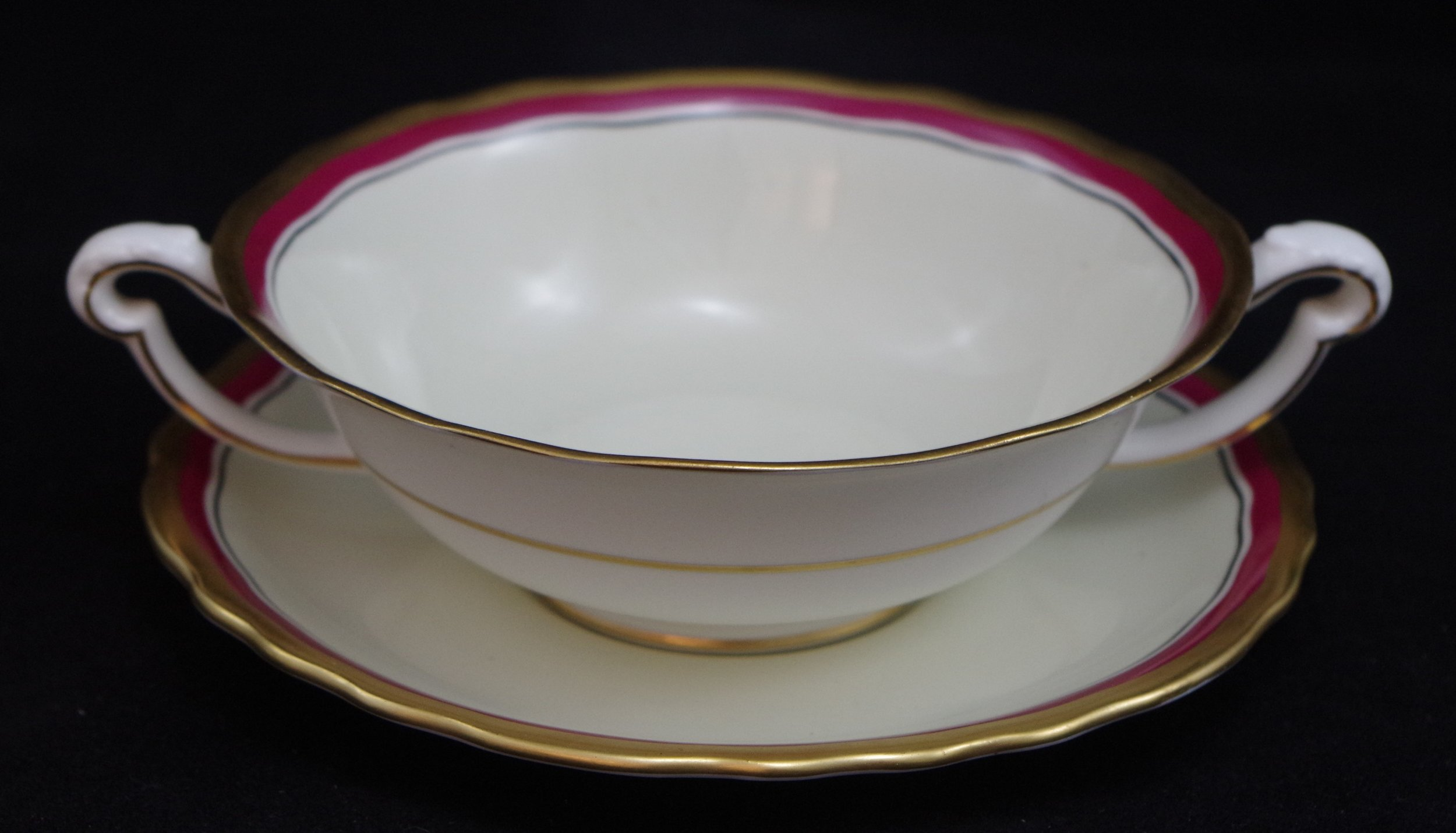royal-crown-derby-ely-soup-and-stand-ivory-ground-inside-thick-gold-edge-maroon-band-black-line