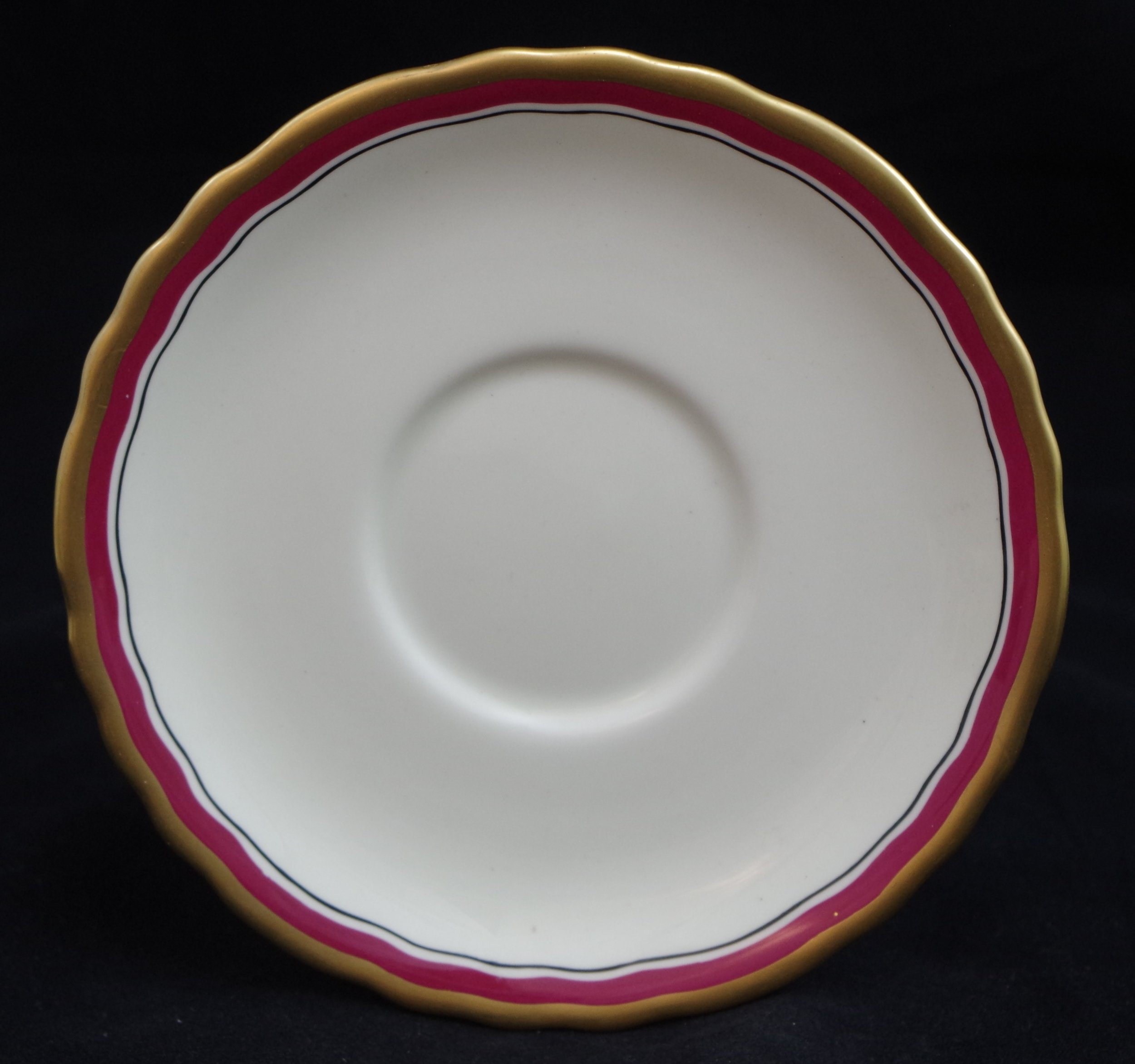 royal-crown-derby-ely-soup-and-stand-ivory-ground-inside-thick-gold-edge-maroon-band-black-line-saucer