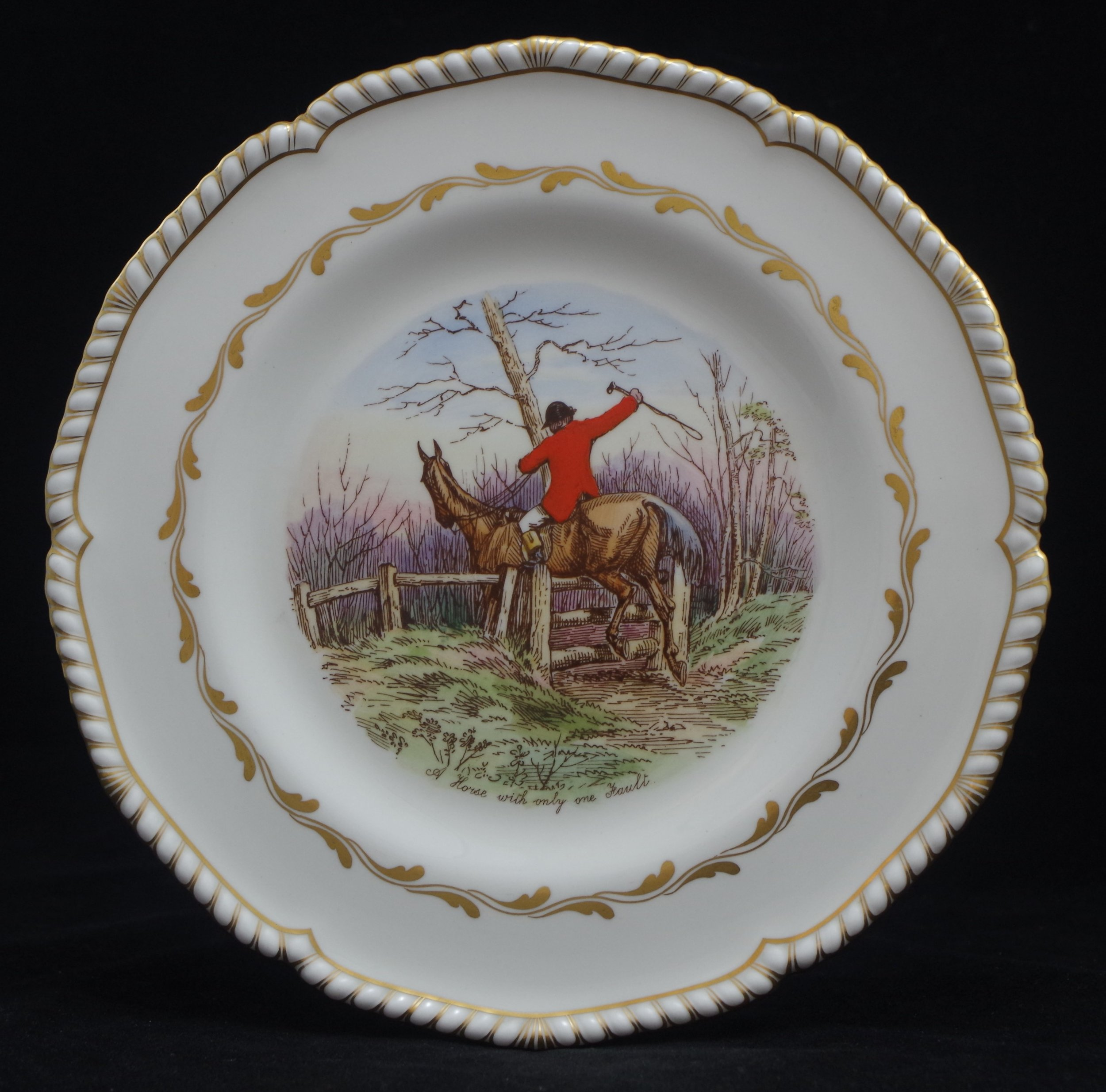 royal-crown-derby-gadroon-shape-jorrocks-a-horse-with-only-one-fault