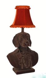 Abigail Ahern/EDITION Brown flocked beagle lamp