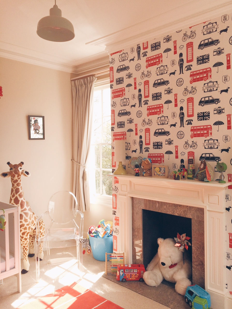 My son's nursery in our home.