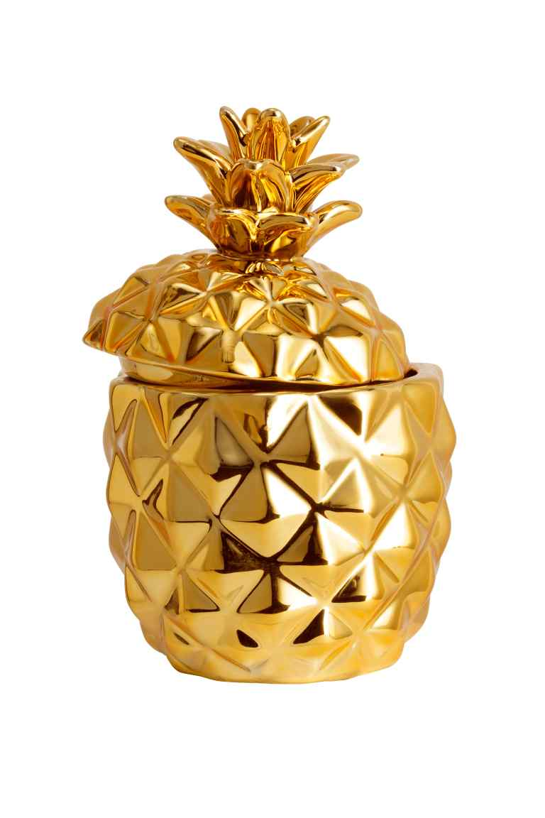 Pineapple Ceramic Candle