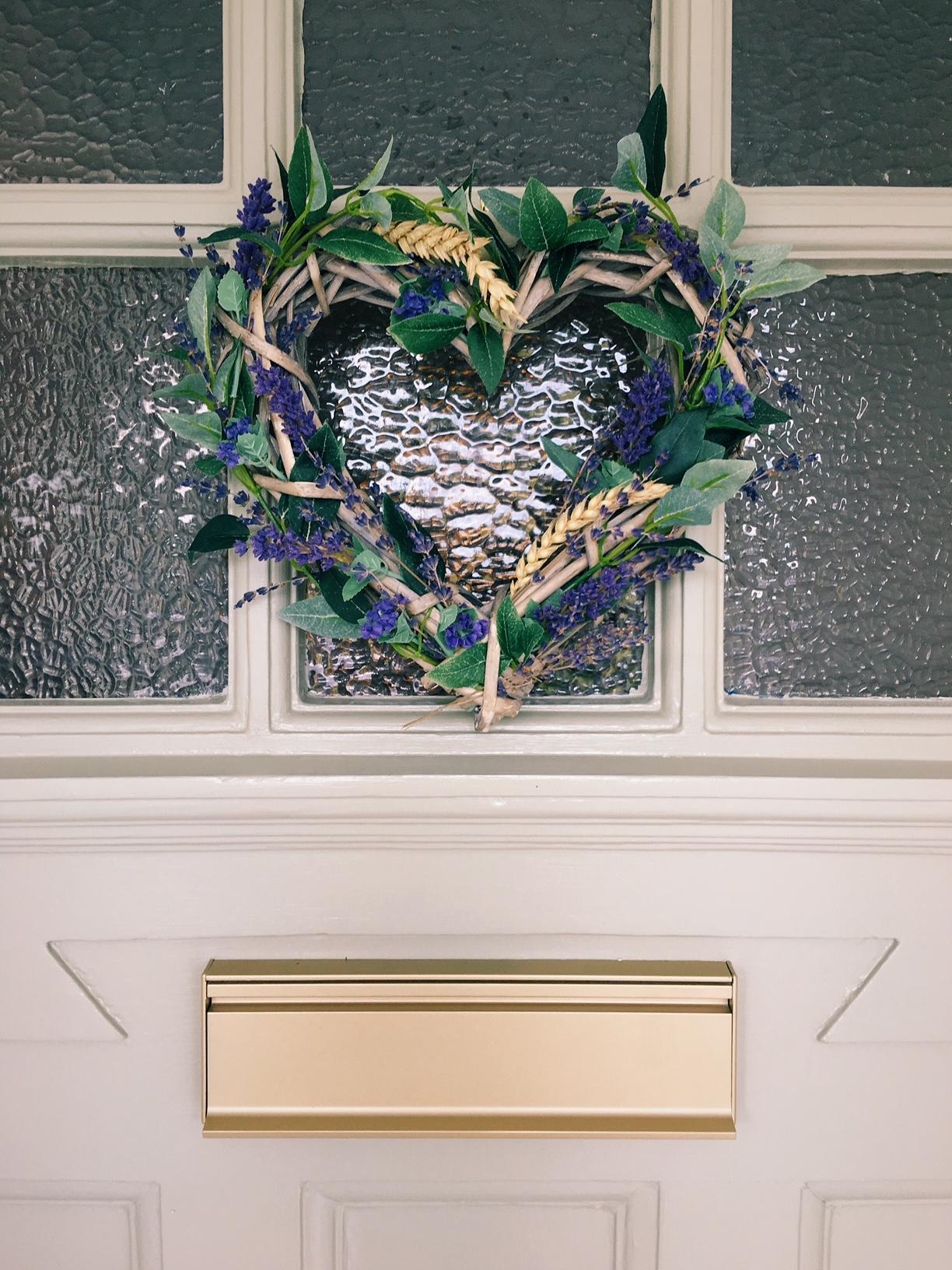 lavender wreath on door