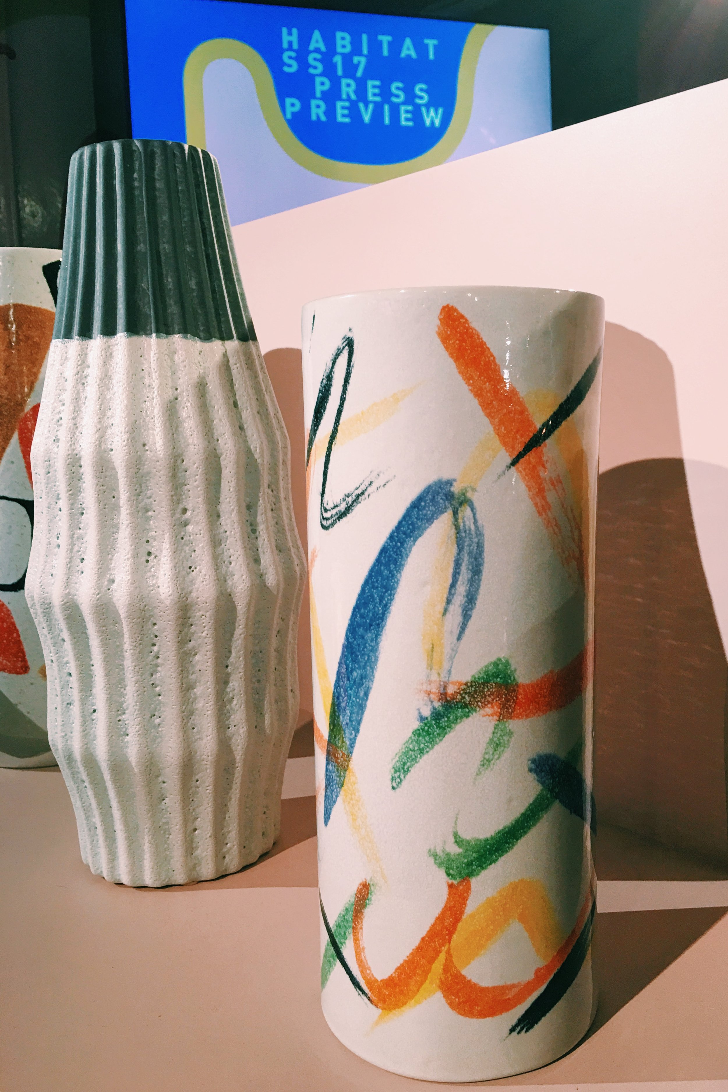 Oakla vase, £30. Rothco vase, £30.