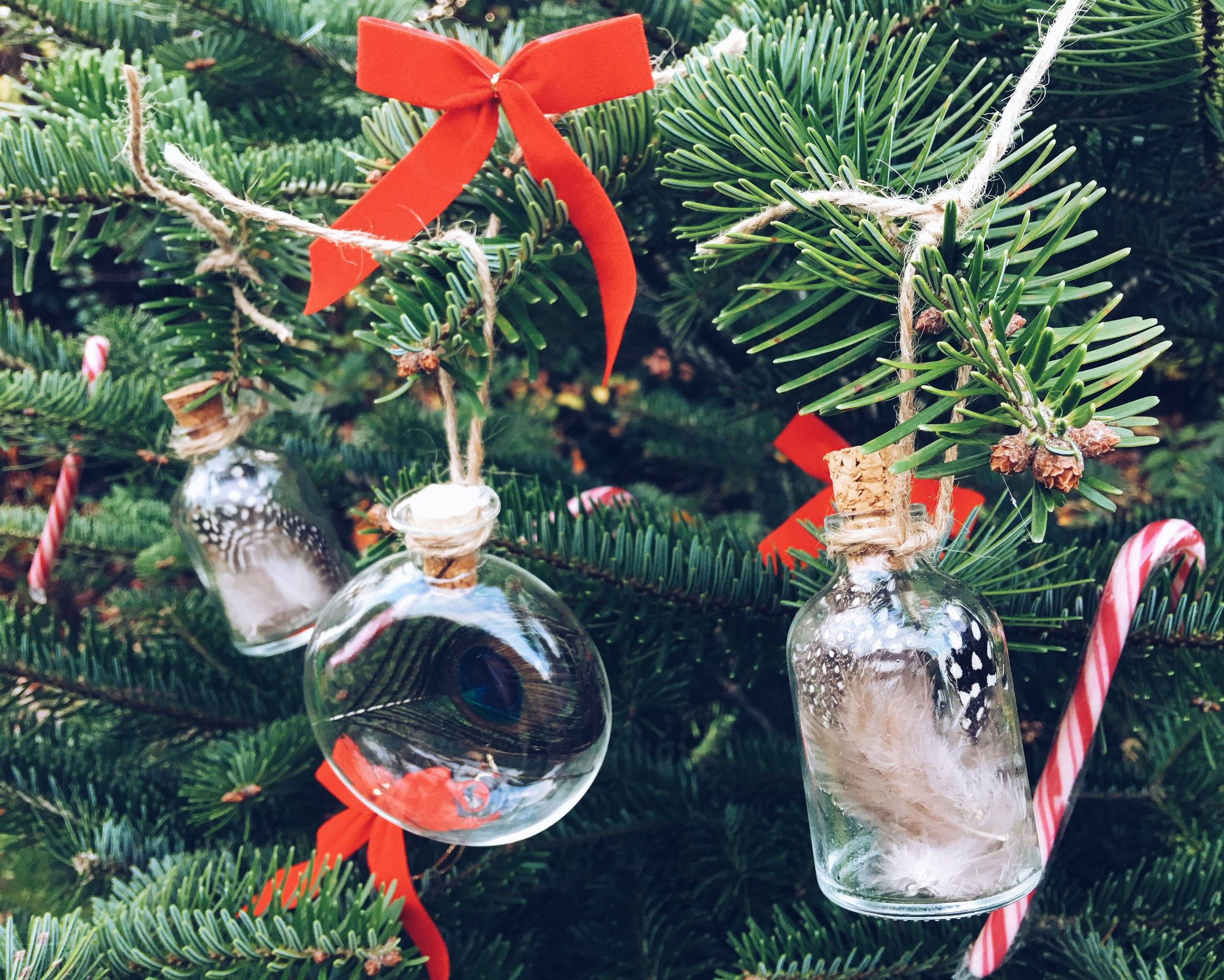 Make These Simple Glass And Cork Bottle Tree Decorations!