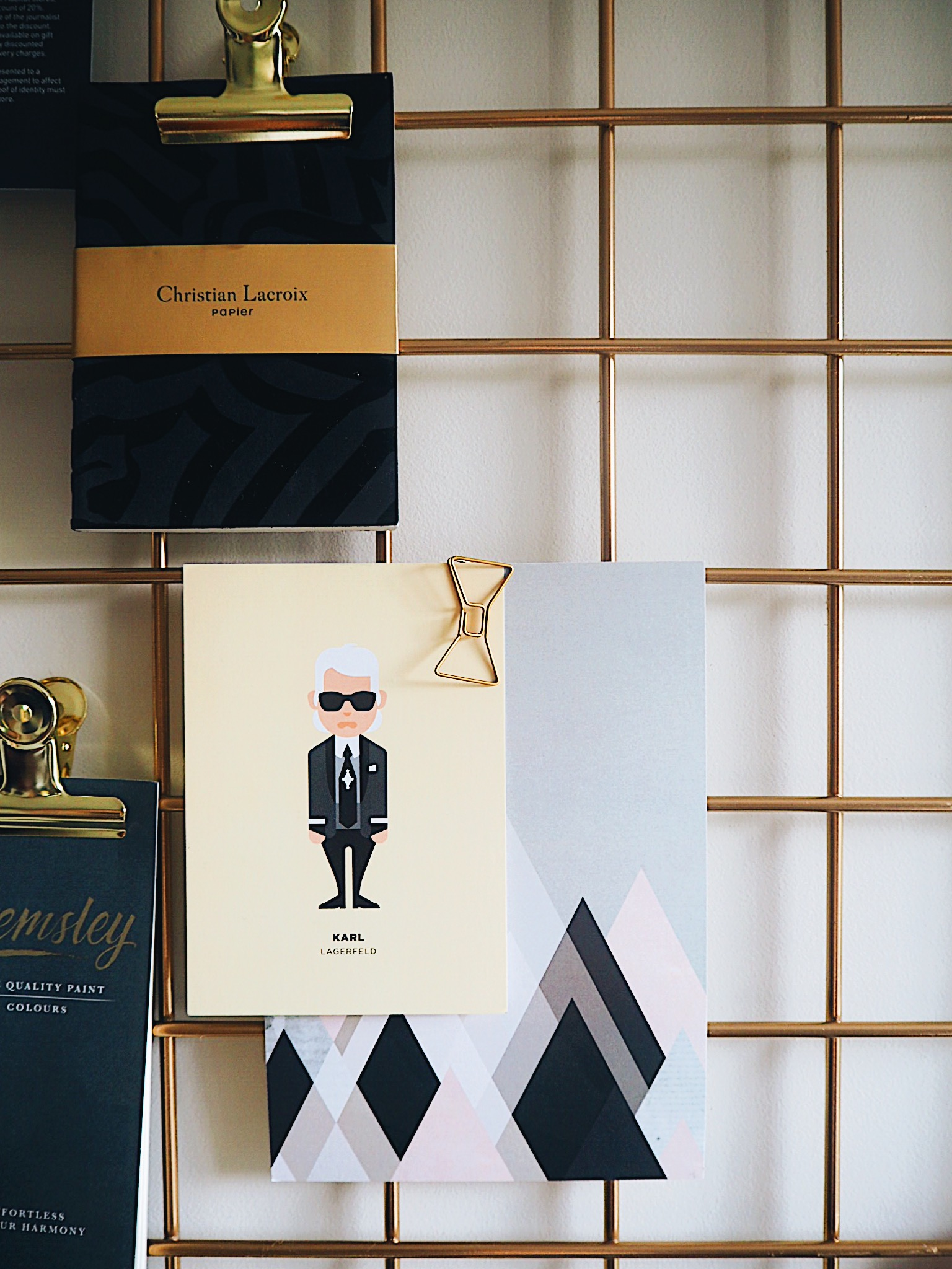 This Karl Lagerfeld postcard is by Image Republic, which you can find out more about  here