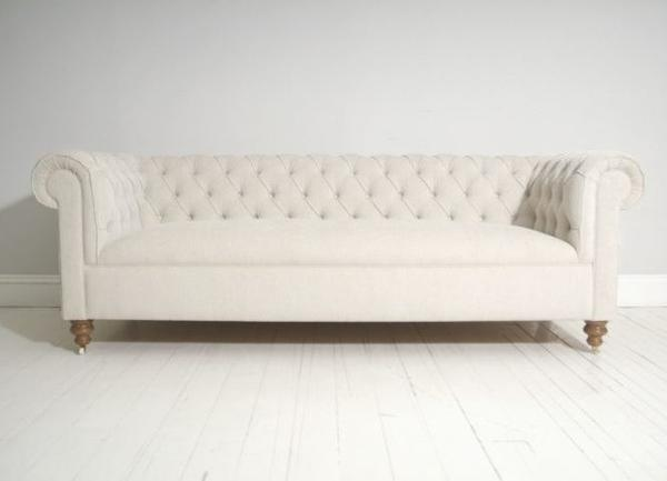 Goderich Chesterfield Fabric Sofa in Stone. Prices start at £1,799