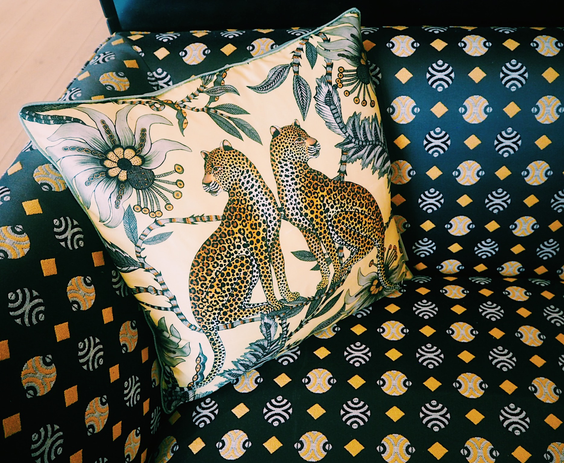 Cushion and chair available at  Colony.