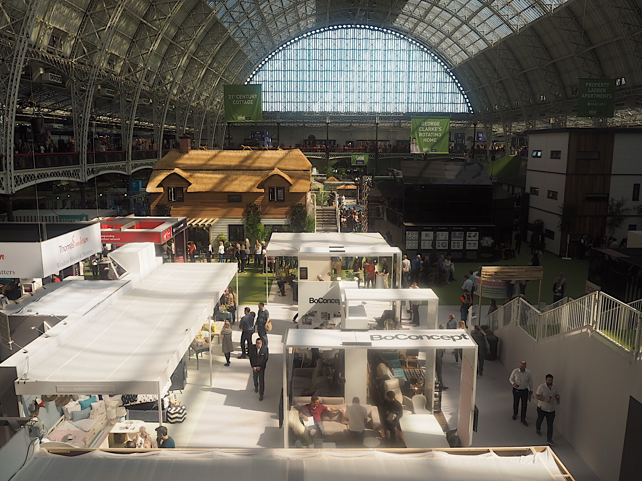 The vast size of the Ideal Home Show in Olympia Exhibition Centre.