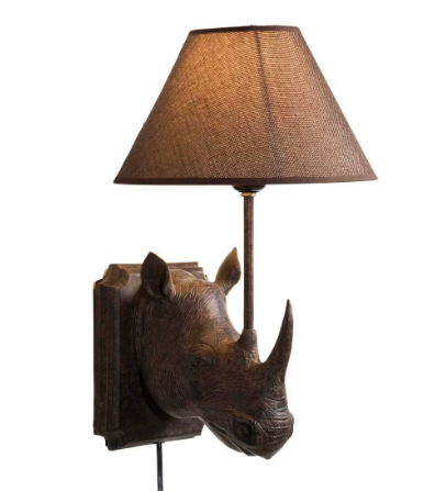 Rhino Wall Lamp - French Bedroom Company £85