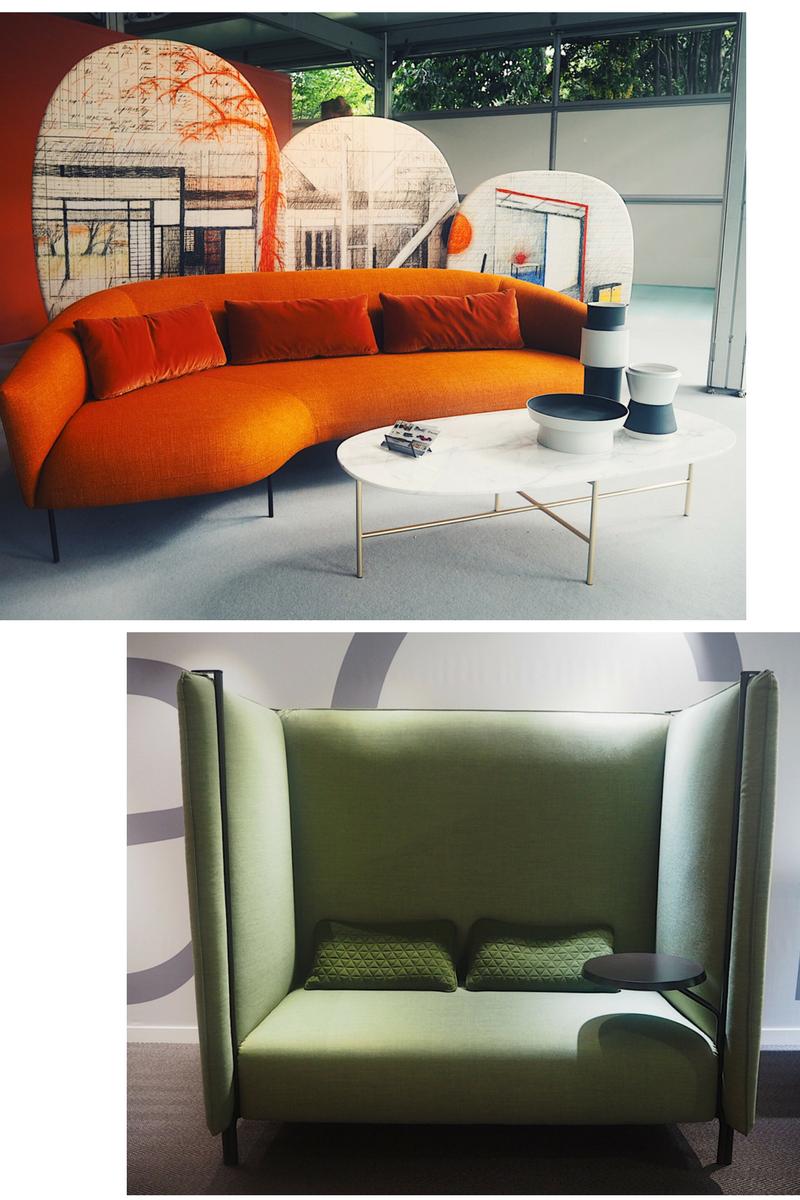 Green sofa by laCividina