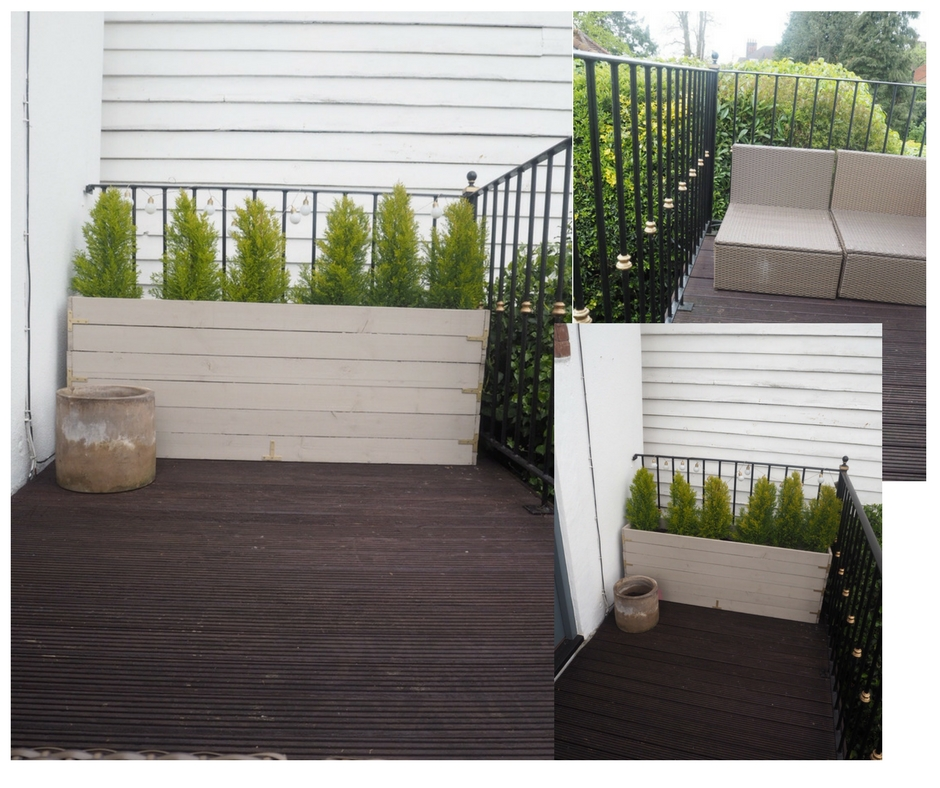 How my balcony looked after the winter. Everything was in good condition, it was just looking uninspiring.