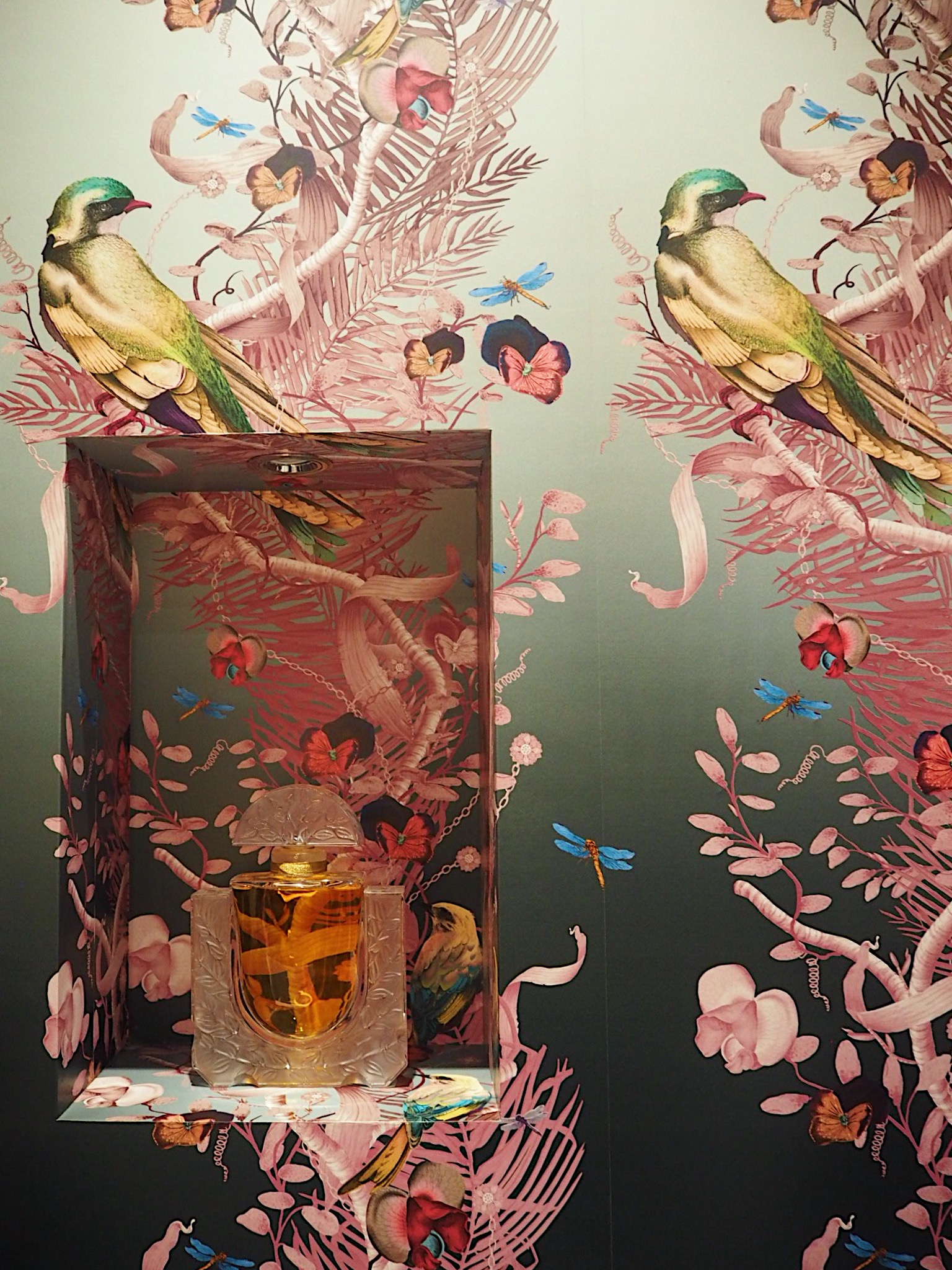 The wallpaper in this bathroom is by Kit Miles.