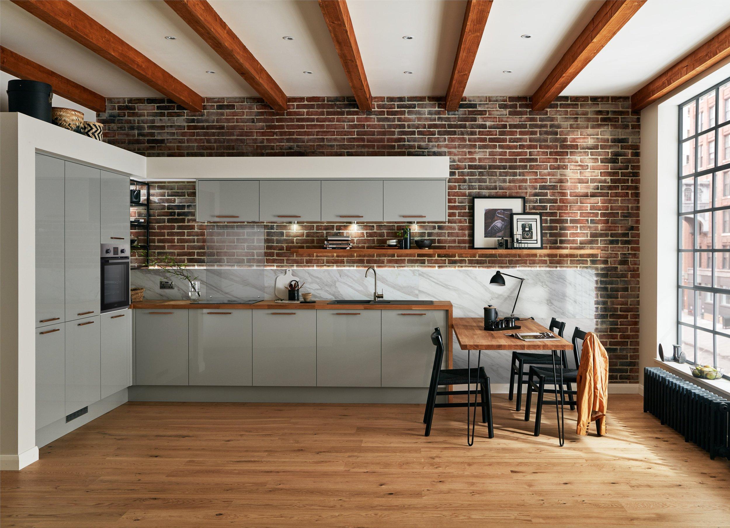 This kitchen is the Glendevon kitchen range by Howdens