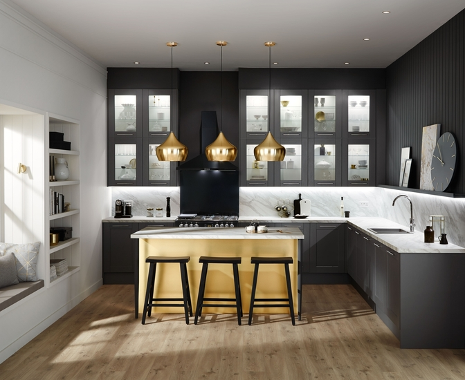 This is is the Fairford kitchen in Graphite by Howdens