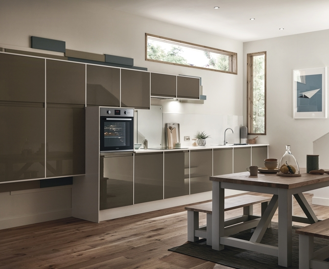 This is the Clerkenwell kitchen in Clay by Howdens