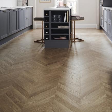 Howdens chevron flooring