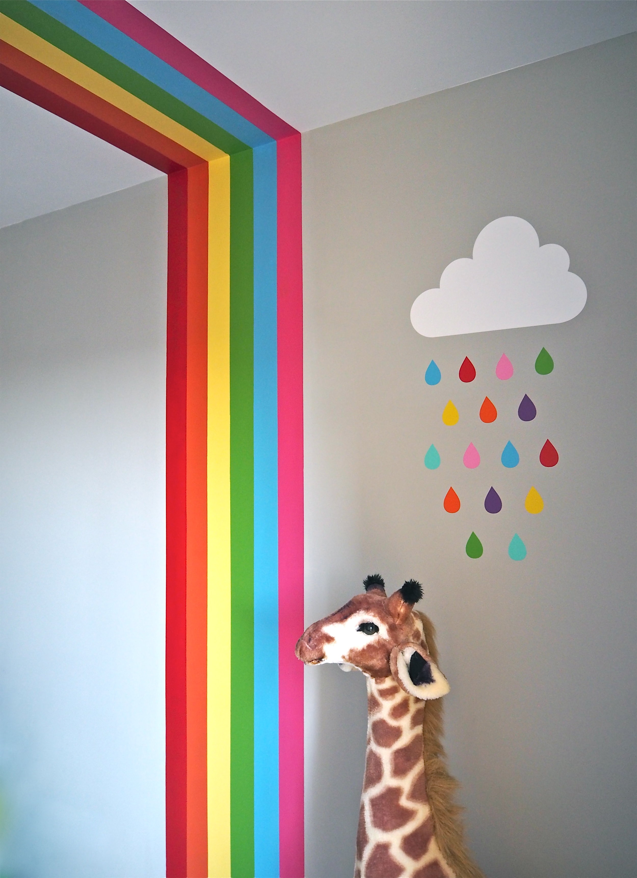 How To Diy A Rainbow Mural In Your Child S Room With
