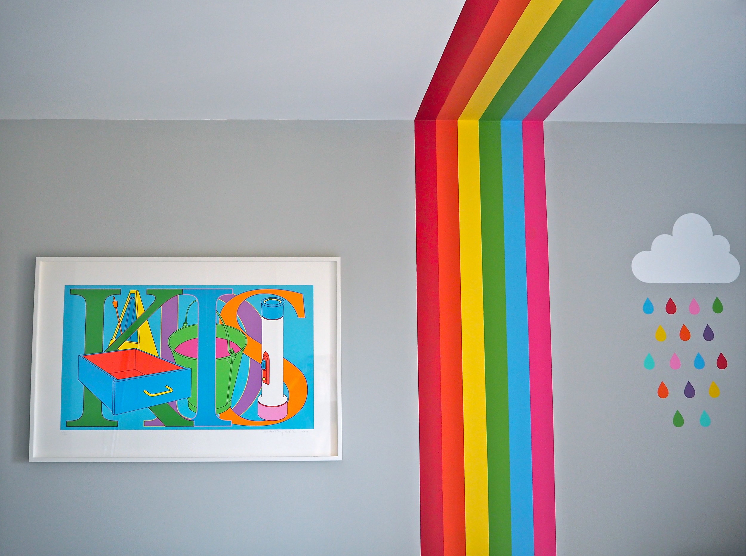 How To Diy A Rainbow Mural In Your Child S Room With Decorators Tape