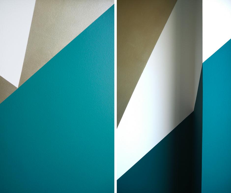 geometric paint effect