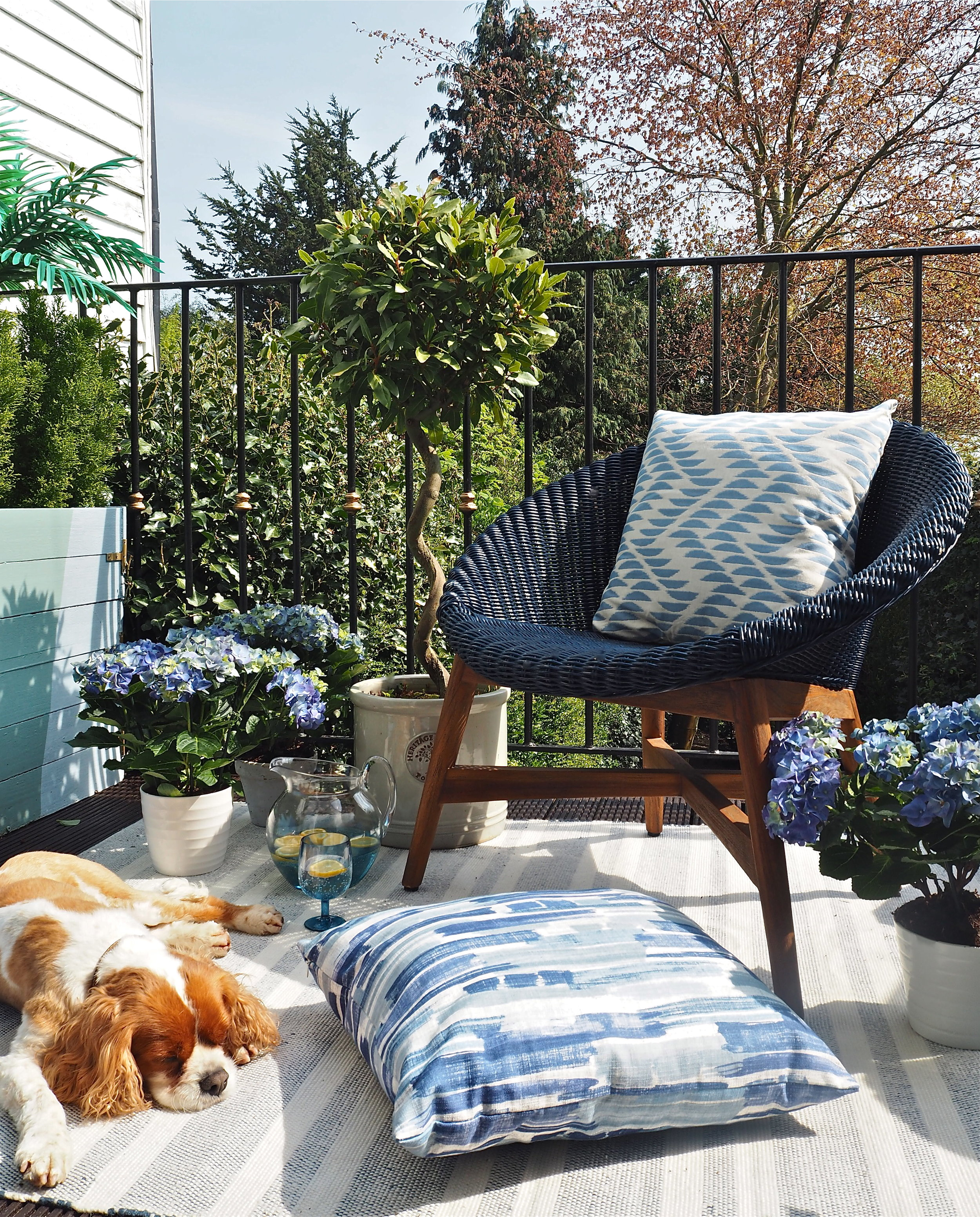 marks & spencer capri chair blue