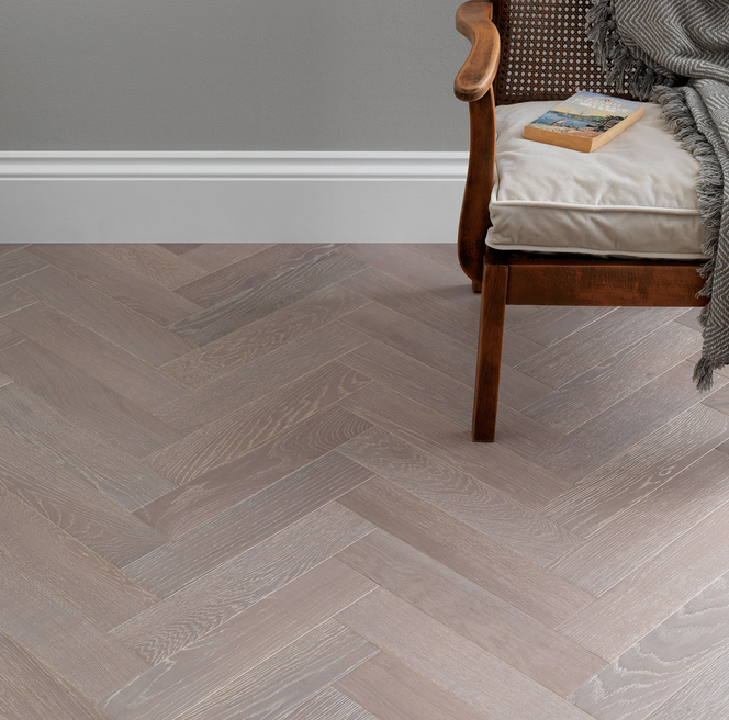 Goodrich Feather Oak Engineered Floor by Woodpecker Flooring. Image Credit: Woodpecker Flooring.