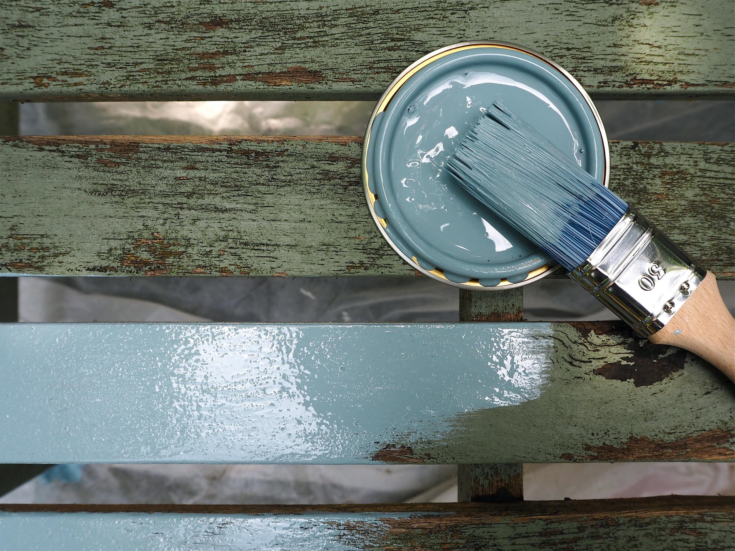 Sandtex exterior paint gentle blue