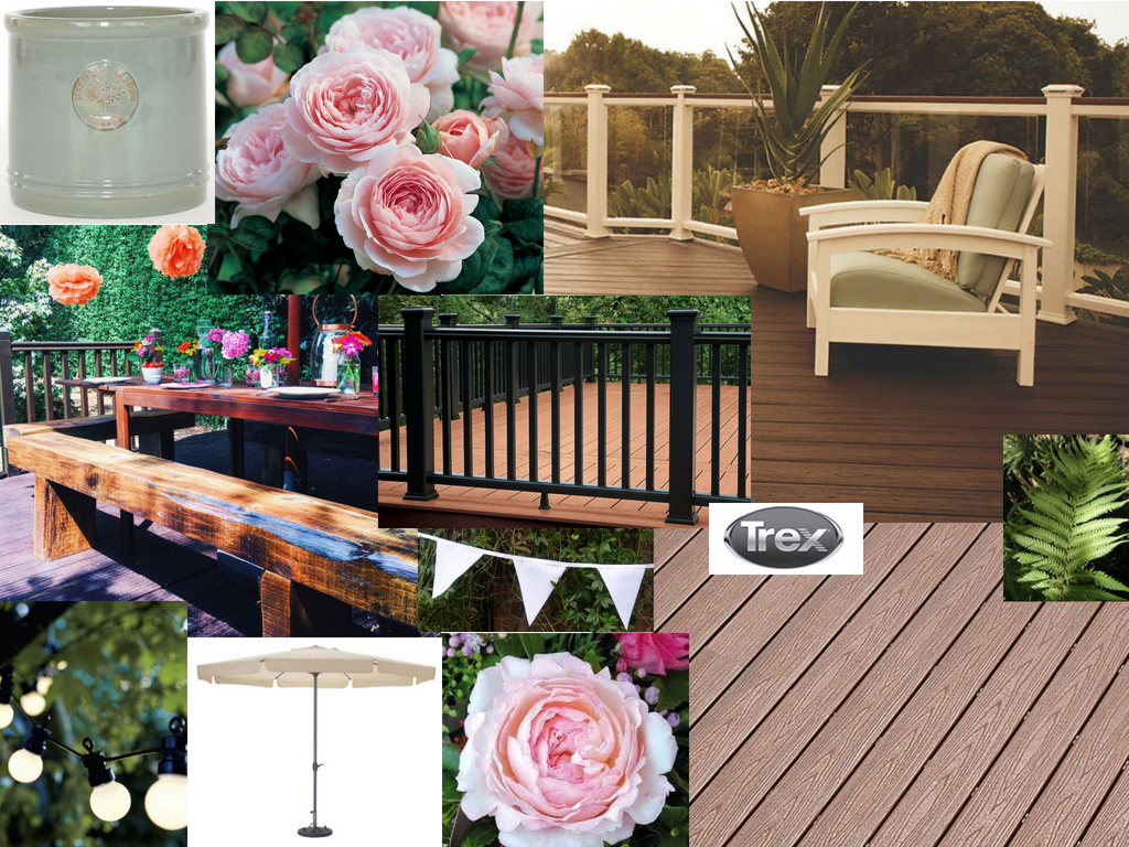 My mood board for the finished deck space.